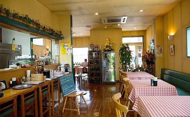 茨城県古河市のイタリアンプリマベーラの店内